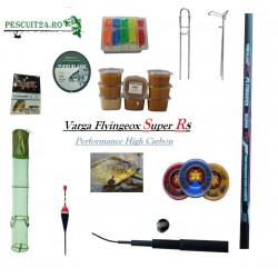 Set Varga/Undita Carbon 4m, cu fir, set ace,  suport undita , juvelnic, cutie plumbi alica, plute, varnis, momeala