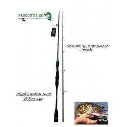 Lanseta spinning SEABRING EMERALD, S-662-ML , HIGH CARBON 100%, WT:15-45g, Lungime 2.00m