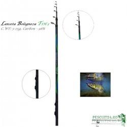 Lanseta Bologneza  TSH-3, TE4 - 400GT, C.WT: 5-25g,  Carbon 98%, Lungime  4m