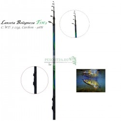 Lanseta Bologneza  TSH-3, TE5 - 500GT, C.WT: 5-25g,  Carbon 98%, Lungime  5m