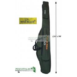 Husa transport  Lansete/Vergi cu 2 compartimente + 2 buzunare, Lungime 150 cm