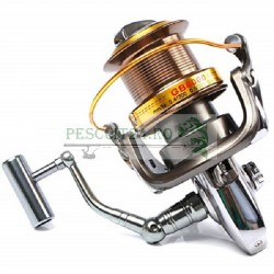 Mulineta GB8000, 12+1 Rulmenti, Frana Fata, Tambur metalic, Recuperare:4.6:1 ideala pescuit crap