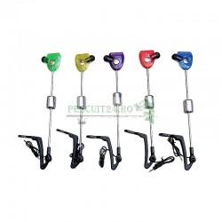 Set 5 Swingeri cu tija, cap colorat in 5 culori, led si spatiu pentru starlet