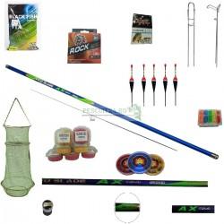 Set Varga/Undita Carbon TS 4 5m,cu fir, set ace,  suport undita , juvelnic, cutie plumbi alica, plute, varnis,  TTX
