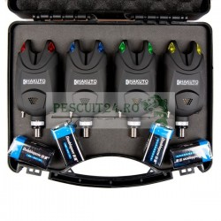 Set 4 avertizori individuali, 4 culori diferite, baterii incluse si valigeta transport