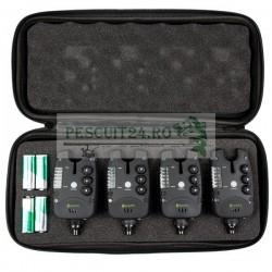 Set 4 avertizori individuali, 4 culori diferite, baterii incluse si valigeta