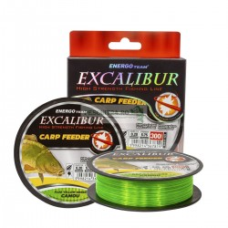 FIR EXCALIBUR CARP FEEDER FLUO YELLOW-GREEN CAMOU, Energofish, 300m