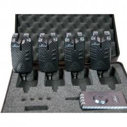 Statie cu 4 senzori de diferite culori ,mufa Jack pentru swingeri si valigeata transort+bateri si suporti senzor cadou